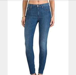 Mother The Looker Tea For Two High Waisted Jeans